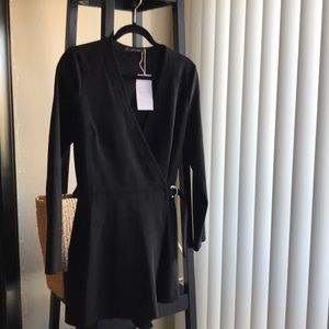 Zara Black long sleeve Romper